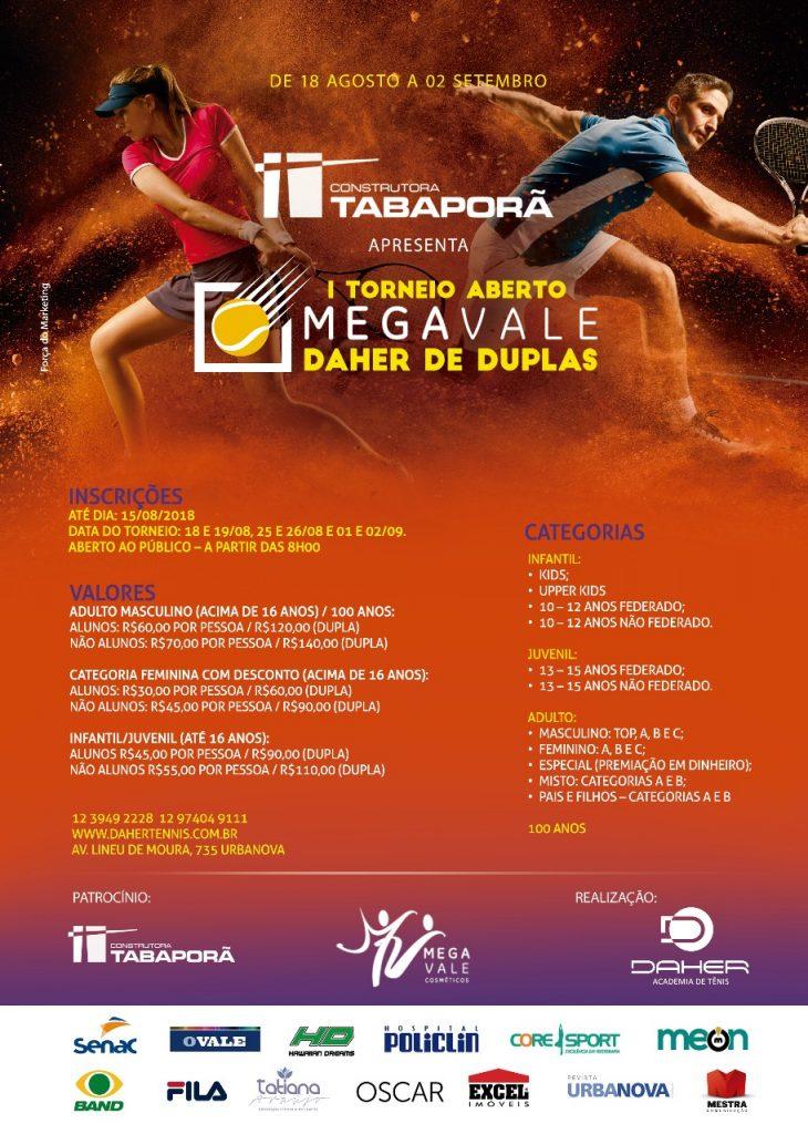 I Torneio Aberto Mega Vale Daher de Duplas